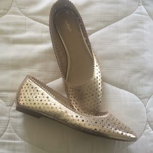 Botkier New gold leather flats size 8